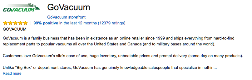 amazon seller profile